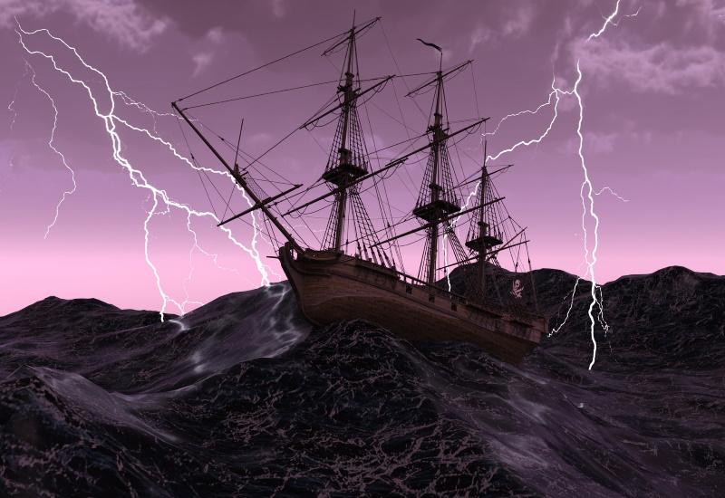 Schiff im Sturm