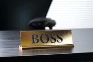 Boss-Schild - DYNAMISCH FÜHREN